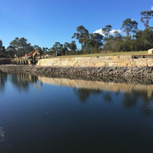 Avalon Earthworks constructing retaining sea walls northern beaches