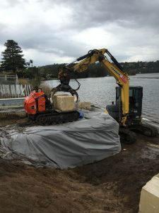 Avalon Earthworks constructing retaining sea walls northern beaches