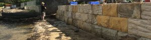 Avalon-earthmoving-sandstone-wall-construction